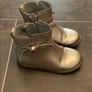 Brown Sherpa-Lined Boots Booties Shoes Toddler Girls Size 9 Tan GAP Baby